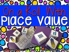 Vowel Team Deal and a Place Value Steal! Math Place Value, Place Values, Base Ten Blocks, Recording Sheets, Hands On Activities, Rolls, Teacher, Dice, Places