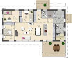 polar124-pohjakuva Small House Plans, Floor Plans, Layout, How To Plan, Little House Plans, Tiny House Plans, Page Layout, Small House Layout, Floor Plan Drawing