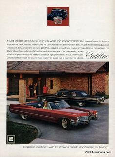 1968 Cadillac DeVille Convertible and Fleetwood 75 Limousine