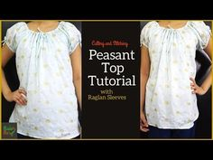 Peasant Top Tutorial Cutting and Stitching Girls Dresses Sewing, Dress Sewing Patterns, Toddler Girl Dresses, Baby Dresses, Dress Girl, Toddler Girls, Baby Girls, Salwar Suit Neck Designs, Blouse Tutorial
