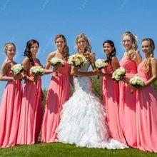 Vestido De Festa Vestido longo da dama De honra Vestido De Vestido De noiva incrível Coral Gowns_bridalk(China (Mainland))