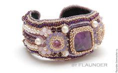 """Купить Браслет """" Purple princess"""" от FLAUNDER. - сиреневый, фиолетовый, царский браслет, королевский браслет"""