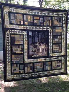 """This an original design around a wolf panel. It is called """"on The Edge""""."""