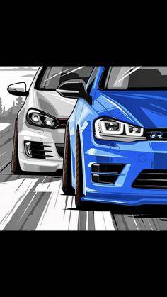 Volkswagen – One Stop Classic Car News & Tips Vw Golf R Mk7, Golf 7 Gti, Volkswagen Golf Mk2, Vw T1, Vw R32 Mk4, Jetta Mk5, Logo Ferrari, Cool Car Drawings, Bmw Wallpapers