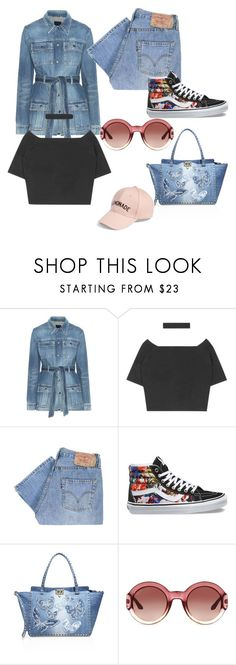 """""""Untitled #11131"""" by bj837101 ❤ liked on Polyvore featuring Yves Saint Laurent, Levi's, Vans, Valentino, Gucci and Amici Accessories"""