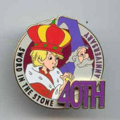 Sword in the Stone Collector's Pin - 40th Anniversary