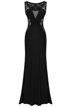 Black Lace Maxi Dress #style #dress #fashion