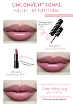 Unconventional Nude Lip Tutorial. Love this colour.