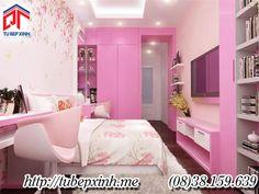 Phòng ngủ ấn tượng, phòng ngủ màu hồng - Pn300
