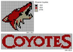 Here is patterns for the logos and name plates for the current teams of the NHL. If anyone would like the patterns for any of the teams tha. Pixel Art Templates, Perler Bead Templates, Pearler Bead Patterns, Perler Patterns, Nhl Logos, Sports Team Logos, Sports Teams, Plastic Canvas Ornaments, Plastic Canvas Patterns