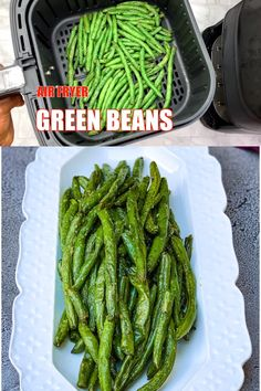 recipes videos Air Fryer Garlic Roasted Green Beans is a quick and easy recipe that is the perfect side dish for your weeknight dinner. You can also serve this keto dish, crispy or fried, and toss in crumbled bacon if you wish. Air Fryer Oven Recipes, Air Fry Recipes, Air Fryer Dinner Recipes, Healthy Recipes, Easy Recipes, Air Fryer Recipes Chicken Wings, Air Fryer Recipes Green Beans, Fresh Green Bean Recipes, Air Fryer Recipes Videos