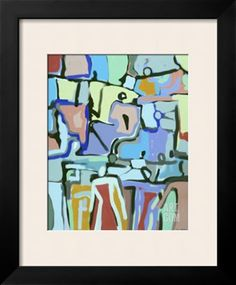 Abstract Crowd Giclee Print by Diana Ong at Art.com