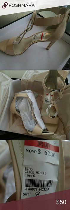 "MAKE AN OFFER!  BCBGENERATION Style ""Cayce"" BG-CAYCE Nude blush patent leather size 8 shoes. BCBGeneration Shoes Heels"