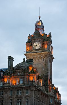 Clock Tower, Balmoral Hotel, Edinburgh, Scotland