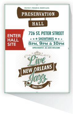Preservation Hall: live New Orleans jazz
