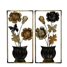 Add a vibrant, modern touch to your home or office decor with this appealing, hand made wall sculpture. Floral motif adds nature's beauty to your home. Features: Add a vibrant, modern touch to your ho