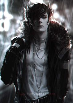 """(Open rp be him) *i sit at the curb waiting for the bus to come take me home when i saw Riken, one of the baddest dudes in my school walk up to me, drenched in rain. """"Hey sweetheart you look a little wet"""" i rolled my eyes and look away, he grabbed my arm and yanked me up """"your coming with me sweetheart"""""""