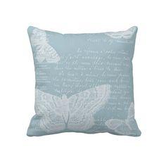 French Blue Butterflies Pillows