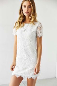 Kimchi Blue Lacey Tee Dress - Urban Outfitters