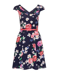 I Feel Pretty Dress | Navy & Multi | Floral Dresses