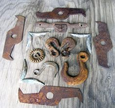 Chain Hooks Large and Small Heavy Metal by HighDesertRust on Etsy
