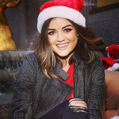 Lucy Hale's makeup was perfect at Winter Wonderland. | Pretty Little Liars