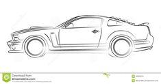 muscle-car-drawing-american-digital-32022215.jpg (1300×681)