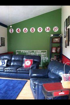 Fenway Park replica game room