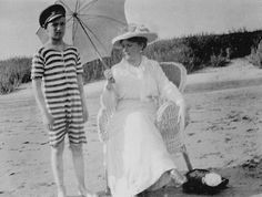 Tsarevich Alexei Nikolaevich with his mother, Tsarina Alexandra