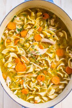 Easy 30-Minute Homemade Chicken Noodle Soup - Classic, comforting, and tastes just like grandma made but way easier and faster!! This soup is AMAZING and it'll be your new favorite recipe!!