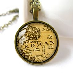 Rohan Map Middle Earth Map necklace