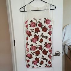 Forever 21 Flower Dress Beautiful Flower Dress Mesh top.  Never worn. Forever 21 Dresses Mini