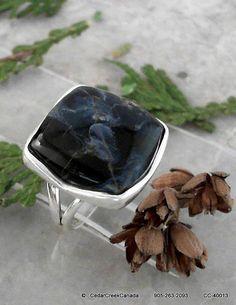 Pietersite Gemstone 925 Sterling Silver Ring   by CedarCreekCanada