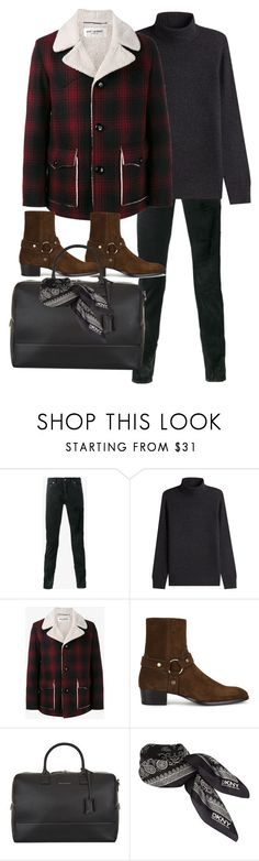 """Inspired by Harry Styles"" by nikka-phillips ❤ liked on Polyvore featuring Yves Saint Laurent, Vince, Want Les Essentiels de la Vie, DKNY, men's fashion and menswear"