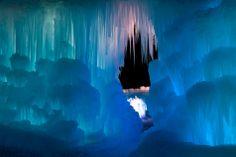 ice castles - midway, utah.