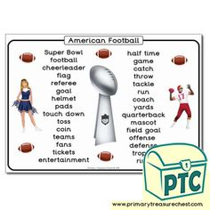 Super Bowl Resources - Primary Treasure Chest Teaching Activities, Teaching Resources, Teaching Ideas, Pre Kindergarten, Role Play, Treasure Chest, Elementary Schools, Super Bowl, Cheerleading
