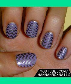 Chevron Nail Art | Hannah M.'s (hannahroxit) Photo | Beautylish