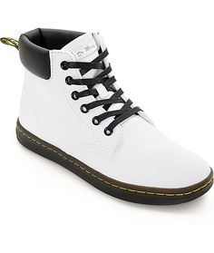 4efce60f0a5f Finish off your clean look with these impeccably white Maelly white canvas  boots from Dr.