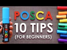10 Posca Pen Tips for Beginners Marker Art, Paint Pens, Paint Markers, Marker Storage, Posca Art, Using Acrylic Paint, Alcohol Ink Art, Mechanical Pencils, Sketches