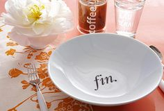 Table Talk on OneKingsLane.com Love these pasta bowls!!!  Cute; Fin =  The End!