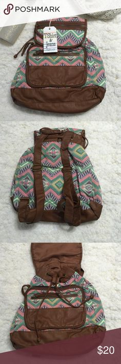 NWT - T-Shirt & Jeans Backpack New with tags - T-Shirt & Jeans back pack - magnetic closure and drawstring closure - retails for 55$ T-Shirt & Jeans  Bags Backpacks