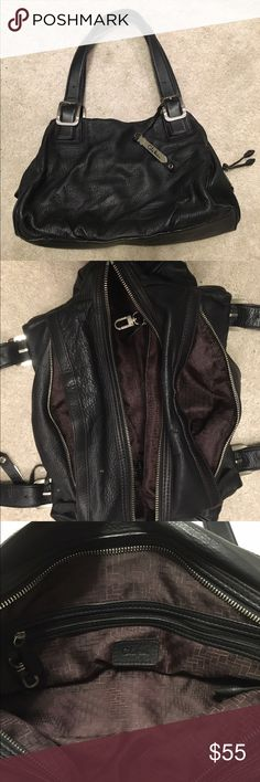 Cole Haan Pebbled Leather Bag Cole Haan black Pebbled leather bag. Features one main zippered compartment and two on the sides (see photos). Leather is like butter! Barely used. In great condition. Cole Haan Bags Shoulder Bags
