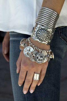 silver bracelet cuff ring