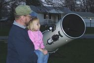 What was your first Moment of Science?    [That's me and my daughter when she was a *very* Little Astronomer.]