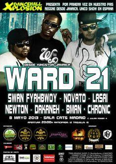 Ward 21 + Swan Fyahbwoy + Dakaneh + Novato + lasai + bman en Madrid el 8 de mayo 2013 en notikumi