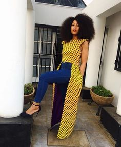 Latest Ankara Tops with Jeans Styles - iFashy African American Fashion, Latest African Fashion Dresses, African Print Dresses, African Print Fashion, Africa Fashion, African Dress, African Fabric, Ankara Fashion, African Prints