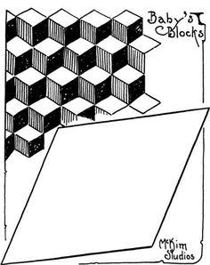 Tumbling Blocks Quilting | Tumbling blocks, Block quilt and Patterns : tumbling blocks quilt pattern template - Adamdwight.com