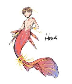 Bts Fanart JHope hoseok mermaid~D Character Inspiration, Character Art, Character Design, Jhope, Jimin, Reference Drawing, V Chibi, Fanart Bts, Mermaids And Mermen