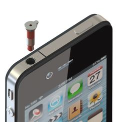 iPinLaser Laser Pointer For Your iPhone; perfect for those lovely presentations or just playing with your cat