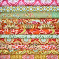 CAP 1 PASSION / Soul Blossoms Fabric by Amy Butler / 11 Fat Quarter Bundle - Cotton Quilt Fabric